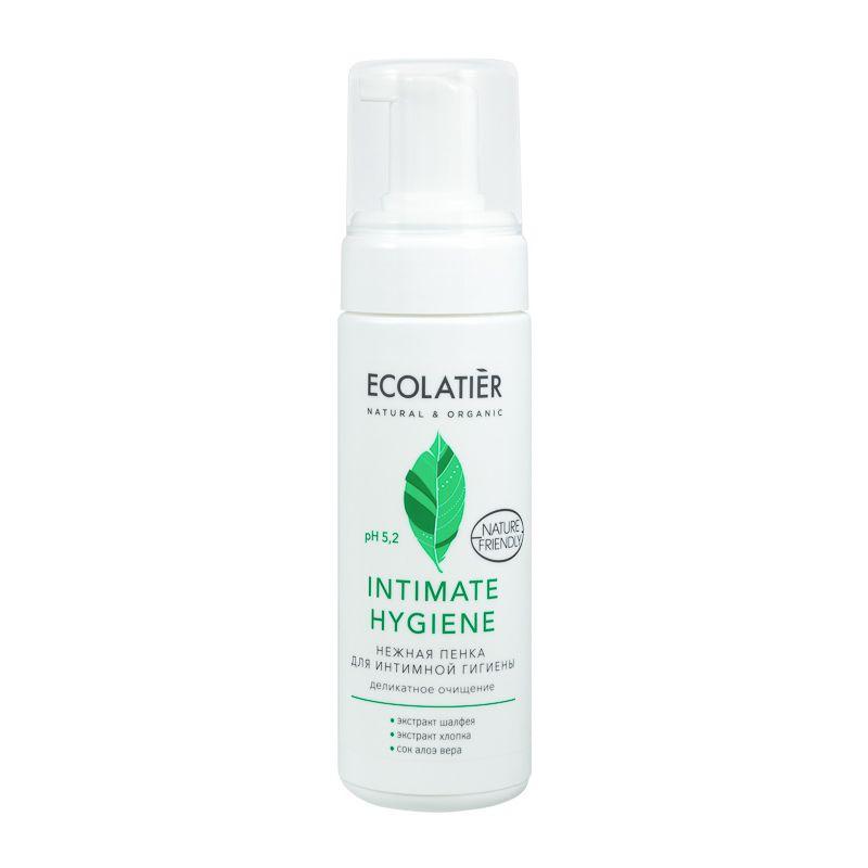 Купить Ecolatier Нежная пенка для интимной гигиены Intimate Hygiene с экстрактами шалфея и хлопка 150 мл