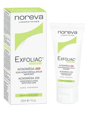 Норева (Noreva) Эксфолиак Акномега-200 Крем для жирной и смешанной кожи с акне 30 мл фото