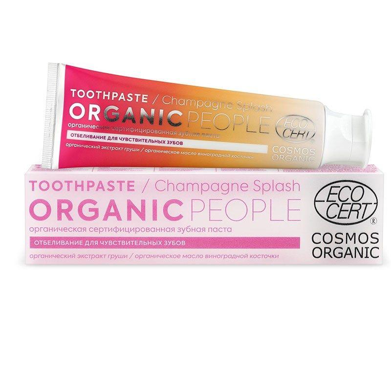 Organic people Зубная паста champagne splash органическая сертифицированная 85г.