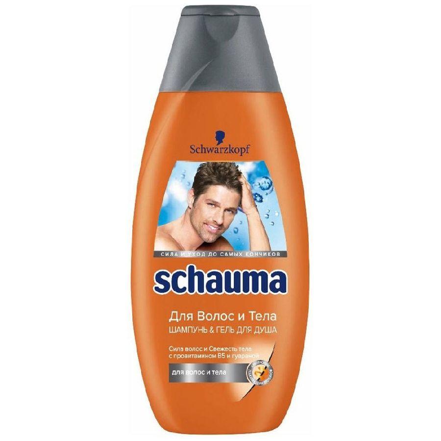 Купить Schauma Шампунь-гель для душа для волос и тела для мужчин 380мл
