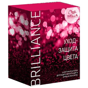 Wella Brilliance Line набор для окрашенных волос Шампунь 250мл + бальзам 200мл