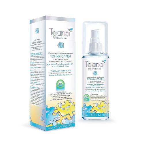 Teana/Теана Энергетический матирующий тоник-спрей с лактоферрином 125мл