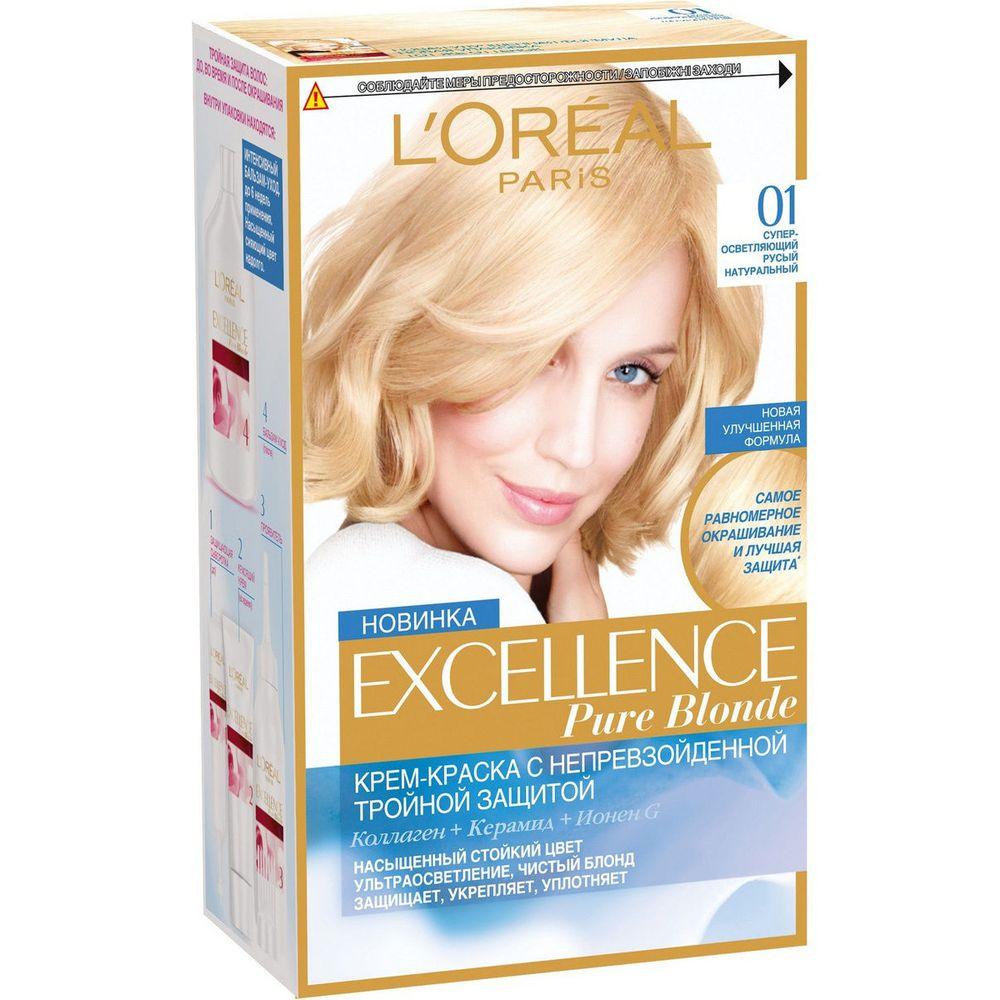 Купить Loreal Paris EXCELLENCE Краска для волос тон 01 Супер-светляющий русый натуральный