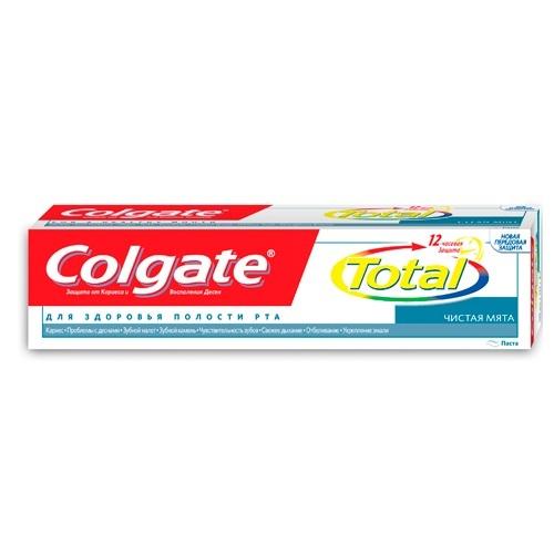 Купить Колгейт Зубная паста TOTAL12 Чистая мята 125мл, Colgate