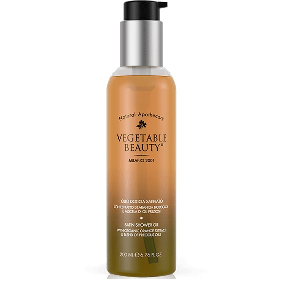 Купить Vegetable Beauty сатиновое масло для душа с органическим экстрактом сицилийского апельсина и комплексом драгоценных масел 200мл
